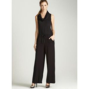Max studio black cowl neck jumpsuit sleeveless